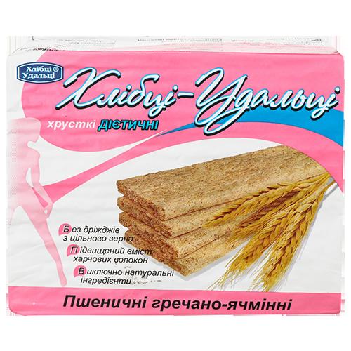 Хлібці-Удальці пшенично-гречано-ячмінні з пророщеною пшеницею 100г п/е