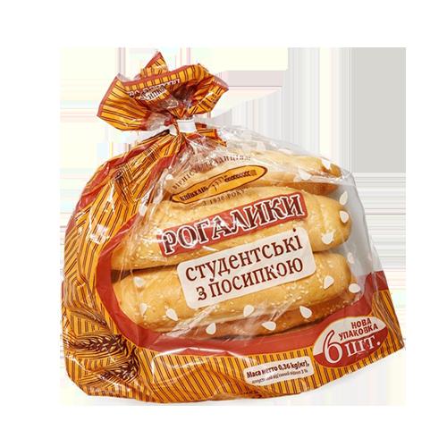 Рогалики Київхліб Студентські посипані кунжутом 360г п/е