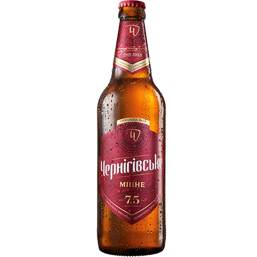 Пиво Чернігівське міцне, світле 0,5л., 7,5% скло