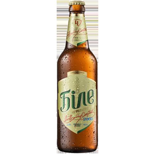 Пиво Чернігівське Біле світле, нефільтроване 0,5л., 4,8% скло