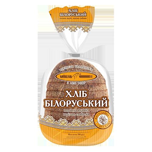 Хліб Київхліб Білоруський нарізаний скибками 350г п/е