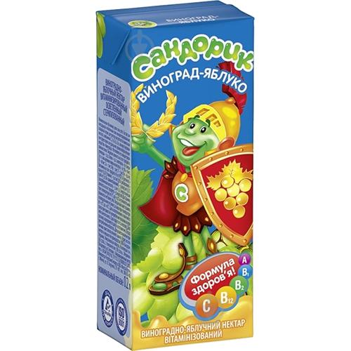 Нектар Sandora банан-яблуко-полуниця 0,5л., т/пак