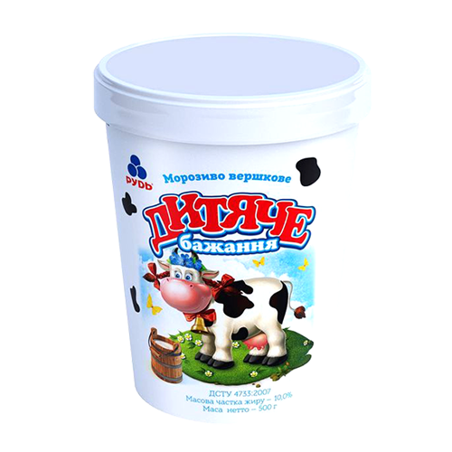 Морозиво Рудь Дитяче 500г відро