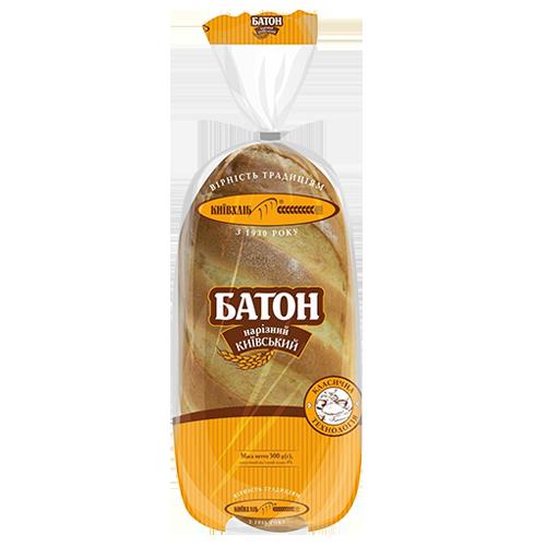 Батон нарізний Київхліб київський нарізаний скибками в уп 500 гр