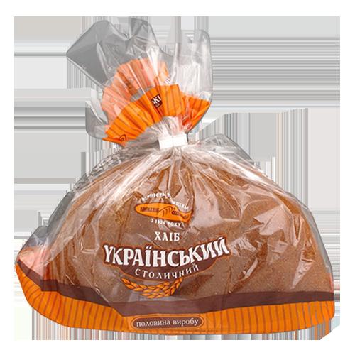 Хліб Київхліб український столичний под половинка нарізаний 475гр п/е