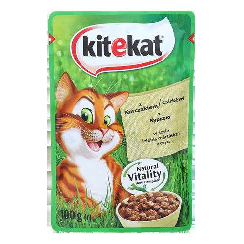 Корм для котів Kitekat Улюблена порція курка 100г