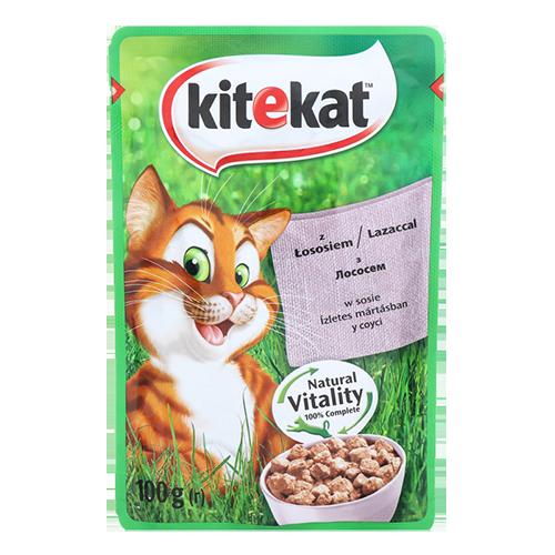 Корм для котів Kitekat з Лососем в соусі 100г