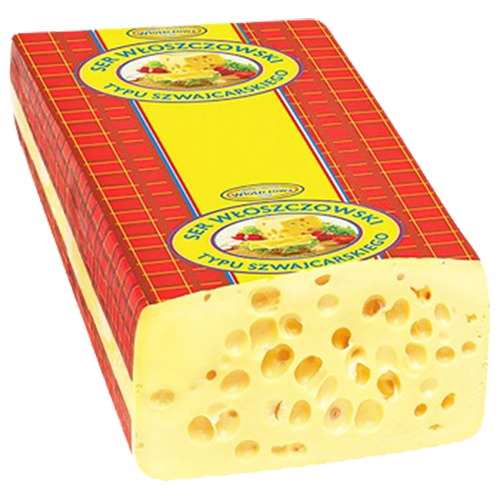 Сир WLOSZCZOWA Швейцарський 45% ваг