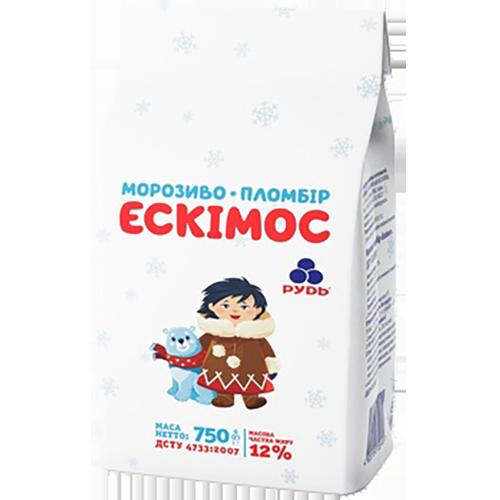 Морозиво Рудь Ескімос пломбір  750г пергамент