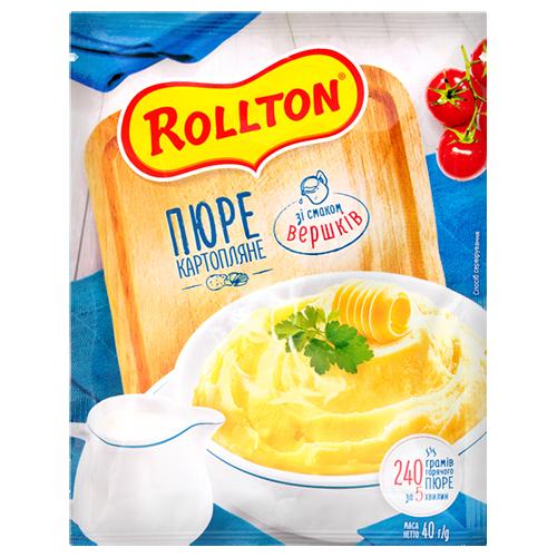 Пюре Роллтон картопляне зі смаком вершків пакет 40г