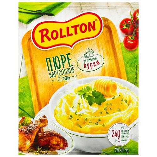 Пюре Роллтон картопляне зі смаком курки пакет 40г
