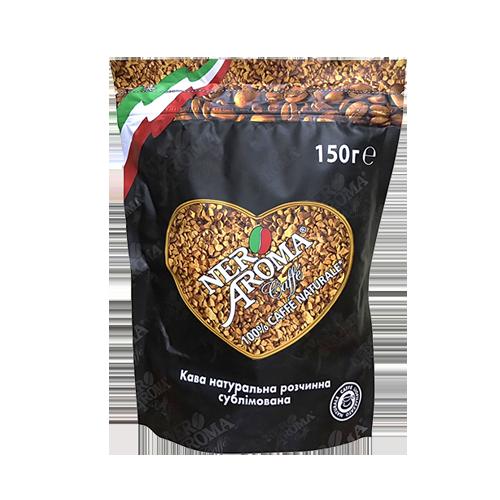 Кава розчинна Nero Aroma Black 150г пакет