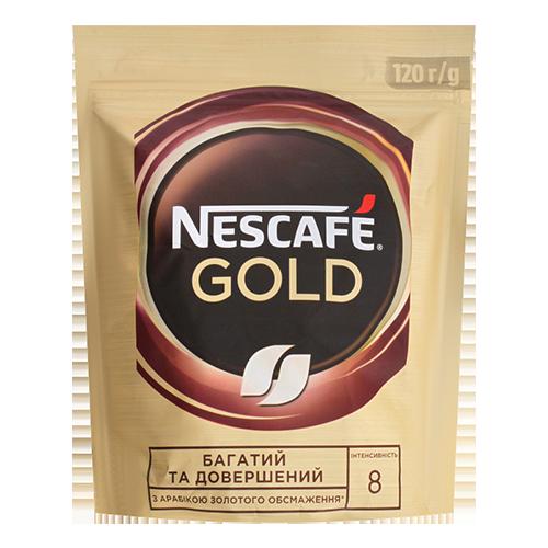 Кава Nescafe Gold розчинна 120г м/у
