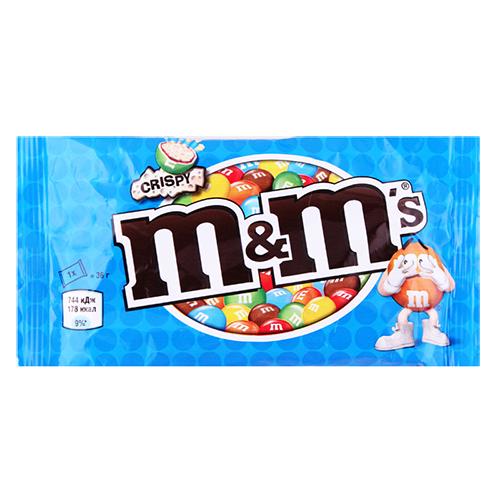 Драже M&Ms Crispy з  рисовими кульками 36г