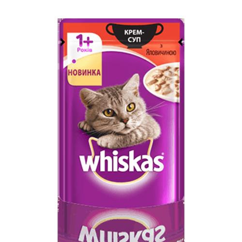 Корм для котів Whiskas Крем-суп з яловичиною 85г