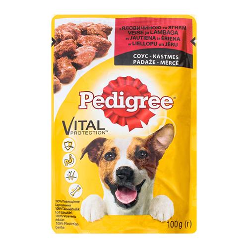 Корм для собак Pedigree з яловичиною та ягням 100г м/у