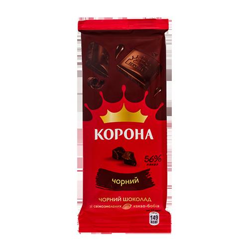 Шоколад Корона чорний 85г