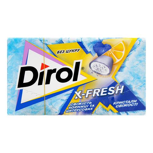 Жувальна гумка  Dirol X-Fresh чорниця цитрус 18г к/у