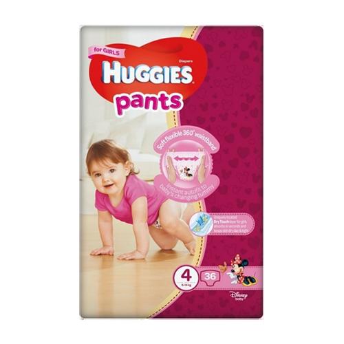 Підгузники-трусики дитячі Хаггіс Pants 4 для дівчаток 9-14кг 36шт