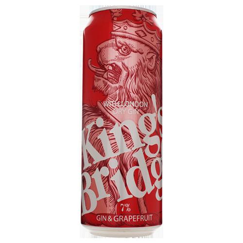 Напій King`s Bridge Джин Грейпфрут слабоалкогольний 0,45л., 7% з/б