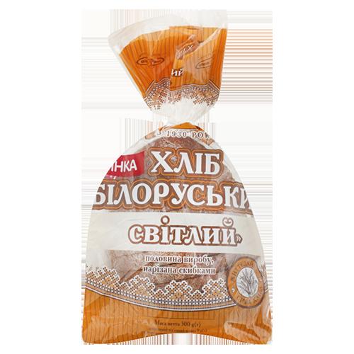 Хліб КИЇВХЛІБ Білоруський світлий пол 0,300гр п\е