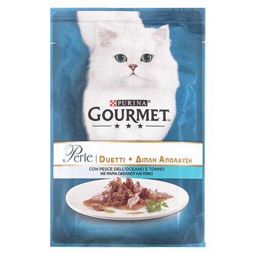 Корм для котів Purina Gourmet Перл Дуо з океанічною рибою та тунцем 85г