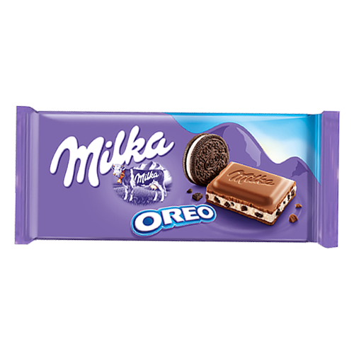 Шоколад Milka з какао та шматочками печива орео 100г