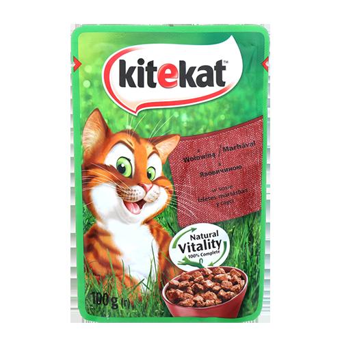 Корм для котів Kitekat з Яловичиною в соусі 100г м/у