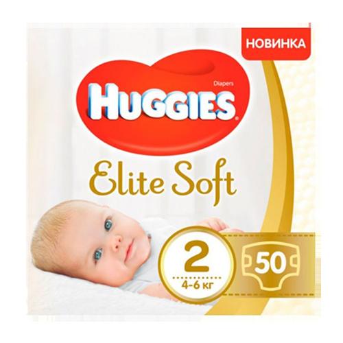 Підгузники дитячі Huggies Elite Soft 2 (4-6 кг) 50шт