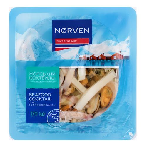Морський коктейль Norven по-середземноморськи 170г в/у
