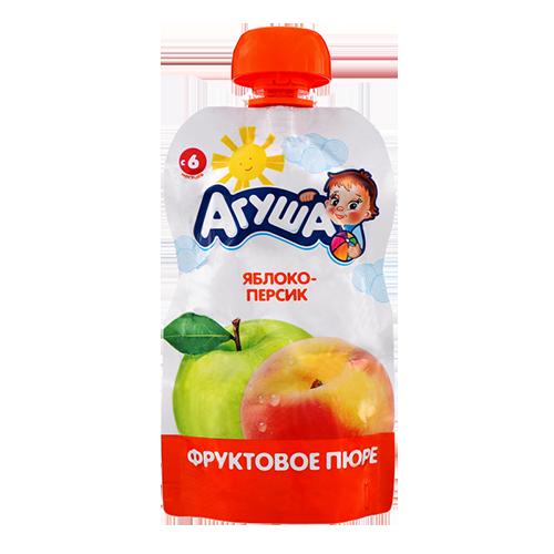 Пюре Агуша яблуко-персик 90г., пауч