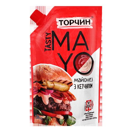 Майонез Торчин TASTY MAYO з кетчупом 200г дой/пак