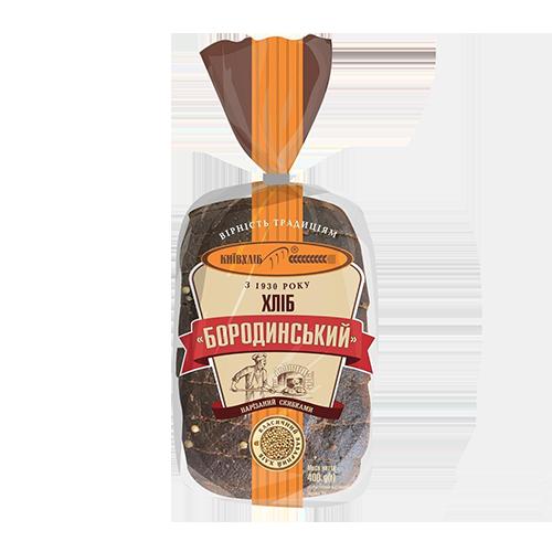 """Хліб """"Бородинський"""" 0,4кг, половина виробу, нарізаний скибками ТМ Київхліб"""