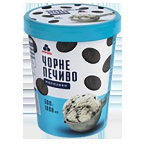 """Морозиво Рудь """"Чорне печиво"""" у відрі 500г карт.ст."""